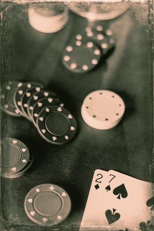 kartenspiel: Losing Pokerblatt f�r diese Spiels�chtigen Kartenspiel Lizenzfreie Bilder