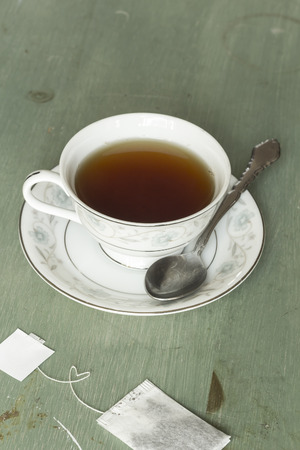 British black tea in a dainty tea cup and saucer
