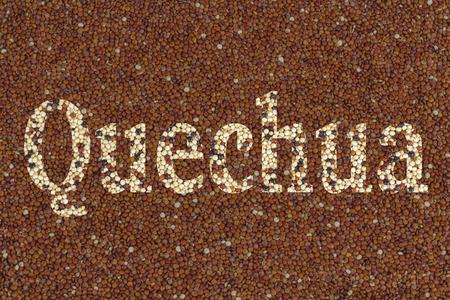 quechua: Quinoa with text Quechua using clipping mask