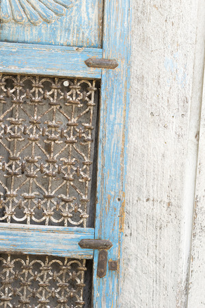 grunge image: Weathered blue shutter for abstract background grunge image Stock Photo