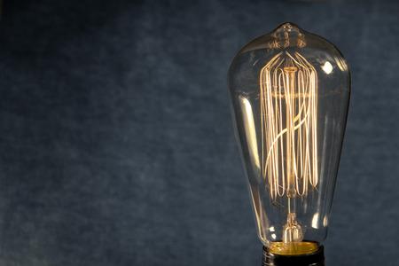 Decorative antique edison style filament light bulb Banco de Imagens