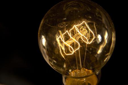 Decorative antique edison style filament light bulb Stock Photo