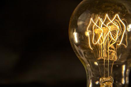Decorative antique edison style filament light bulb 写真素材