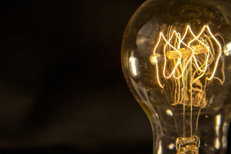 bulb idea: Decorative antique edison style filament light bulb Stock Photo