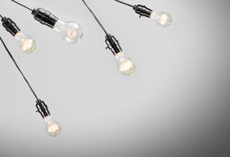 edison: Hanging antique edison style filament light bulb