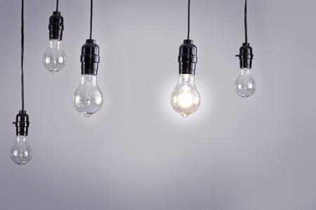 filament: Hanging antique edison style filament light bulb