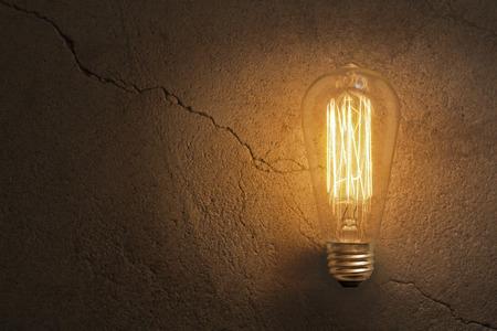 Decorative antique edison style filament light bulb Stok Fotoğraf