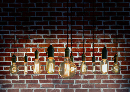 antique: Decorative antique edison style filament light bulbs