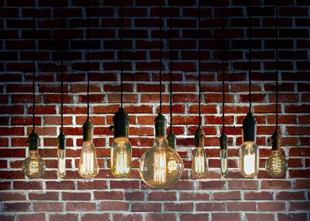 Decorative antique edison style filament light bulbs Stok Fotoğraf - 42522691