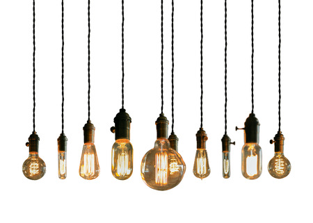 filament: Decorative antique edison style filament light bulbs