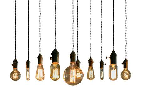 Decorative antique edison style filament light bulbs Stok Fotoğraf - 42522702