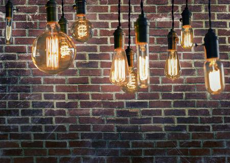 enchufe de luz: Decorative antique edison style filament light bulbs