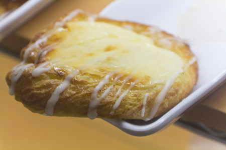 flaky: Lemon French pastry kouign amann on display and ready to be devoured