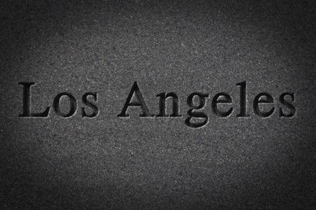 Incisione Ortografia Della Città Di Los Angeles Sulla Superficie ...