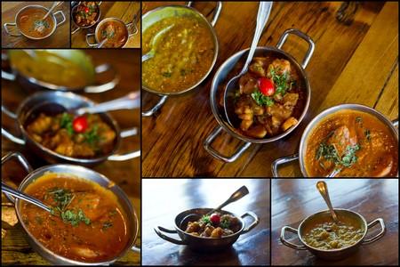 コラージュ画像のマサラを含む人気のインド料理