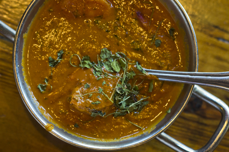 Authentic Indian cuisine Tikka Masala served restaurant style