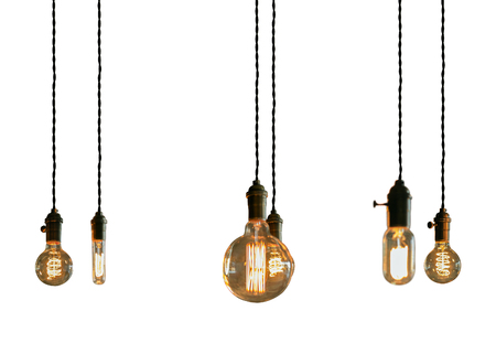filament: Decorative antique edison style filament light bulbs
