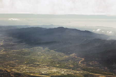 lightrays: Beautiful aerial view of the rocky mountains of the United States
