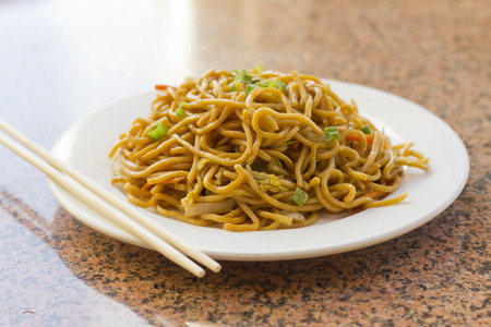 Delicious chinese food, vegetable Lo Mein stir fry