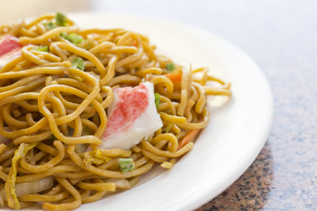 yi mein: Delicious chinese food, Lobster Lo Mein stir fry
