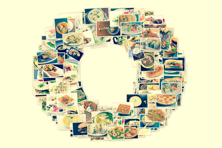 Collage of lots of popular worldwide dinner foods and appetizers