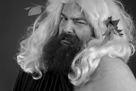 desprecio: Disgustado dios Zeus o Júpiter es asco