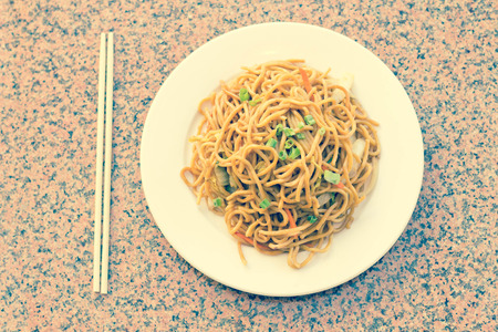 lo mein: Delicious chinese food, vegetable Lo Mein stir fry