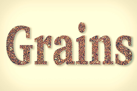 clipping: Quinoa with text grains using clipping mask