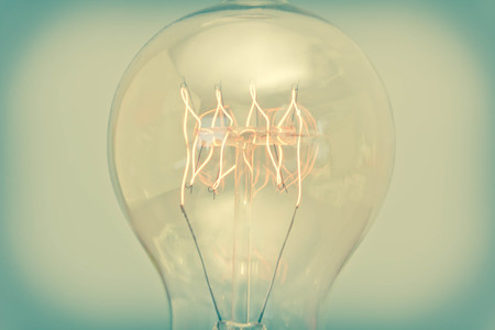 filament: Decorative antique edison style filament light bulb Stock Photo