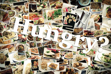 lots of: Collage of lots of popular worldwide dinner foods and appetizers