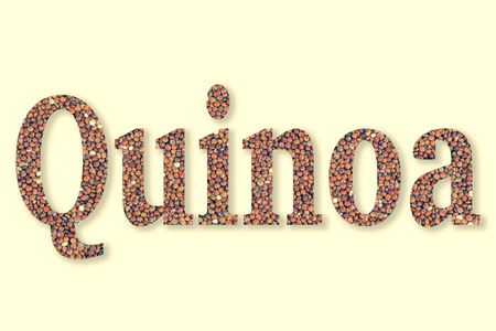 clipping: Quinoa with text Quinoa using clipping mask
