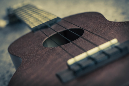 the soprano: Soprano Ukelele an exotic wooden stringed instrument of the Hawaiian Islands
