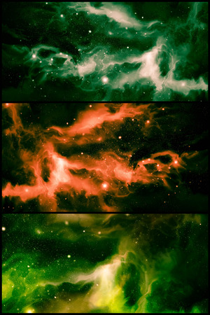 imagery: Giant colorful universe starscape backdrop collage imagery