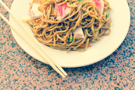 mee pok: Delicious chinese food, Lobster Lo Mein stir fry