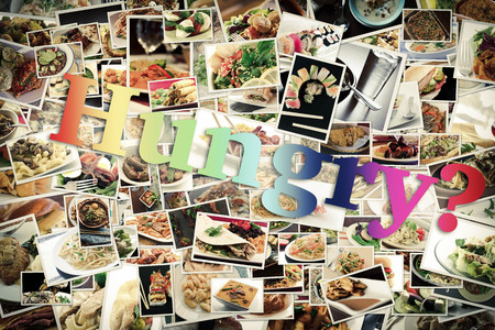 lots: Collage of lots of popular worldwide dinner foods and appetizers