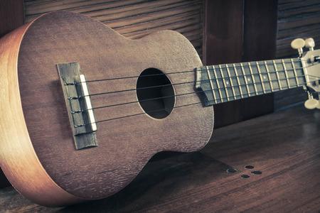 nylon string: Soprano Ukelele an exotic wooden stringed instrument of the Hawaiian Islands