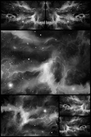 starscape: Giant colorful universe starscape backdrop collage imagery