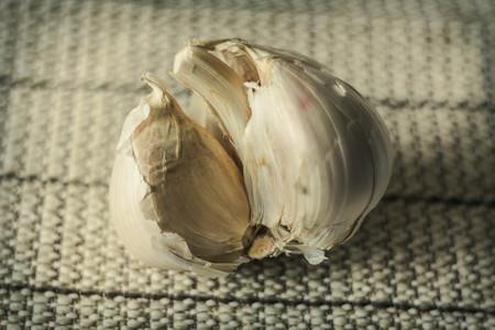 extra large: Extra large elephant garlic with moody lighting for farmers background photo Stock Photo