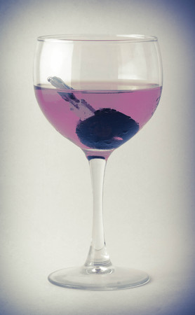 drunk driving: Car keys in a glass of wine - symbolizing drunk driving