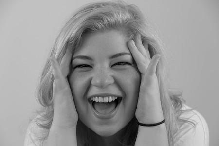 peekaboo: A cute girl plays peekaboo and laughs