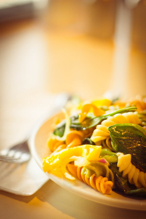 pasta salad: Delightful and vibrant tricolor pasta salad with healthy vegetables