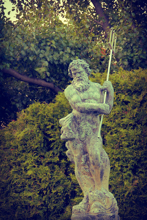 neptun: Awesome Poseidon Statue with trident also known as Neptune