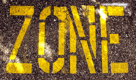 zone painted on pavement
