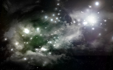 Giant universe starscape backdrop with colorful space clouds Stock fotó
