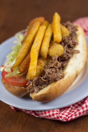 chicken fingers: Grease trucks New Brunswick fat sandwich cheesesteak