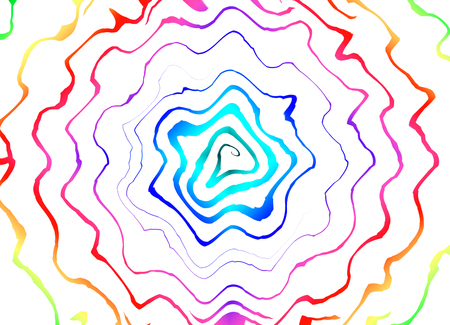 Psychedelic hypnosis swirl background optical illusion illustration