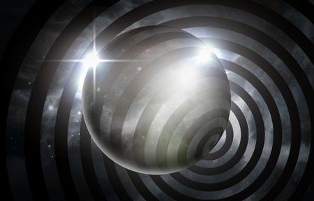 hypnotism: Psychedelic hypnosis swirl universe starscape optical illusion illustration