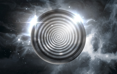 Psychedelic hypnosis swirl universe starscape optical illusion illustration