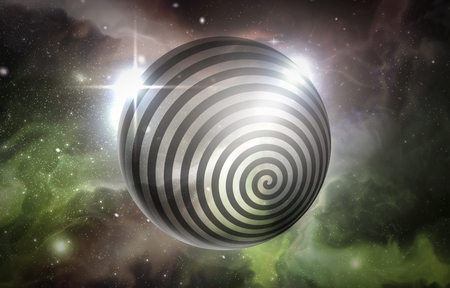 Psychedelic hypnosis swirl universe starscape optical illusion illustration Stock Illustration - 52291547