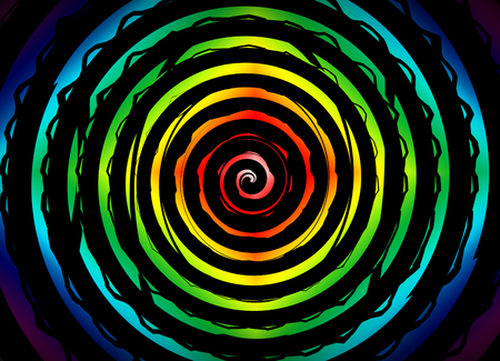 hypnotize: Psychedelic hypnosis swirl background optical illusion illustration